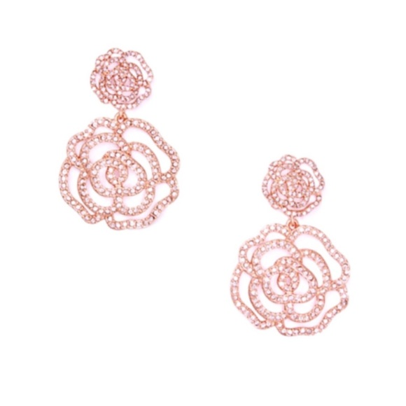 1ed2ea0852c41 New Kate Spade Crystal Rose Gold Drop Earrings